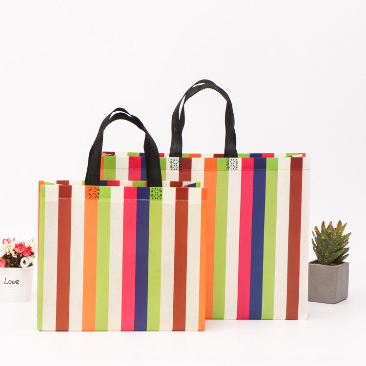 LIFANG Universal square bottom clothing shopping bag portable non-woven bag
