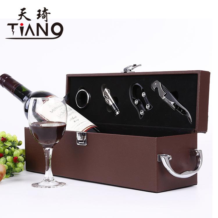 GAICHI Single leather box, wine gift box, packaging box, custom wine set, Lafite
