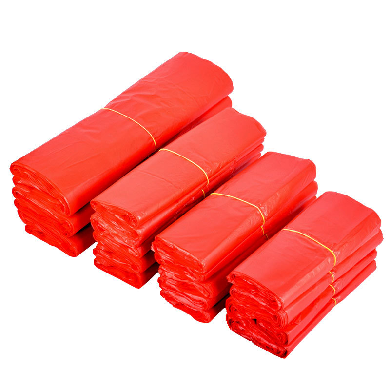 DIANYA Red vest bag shopping bag portable garbage bag household thickened take away bag plastic bag