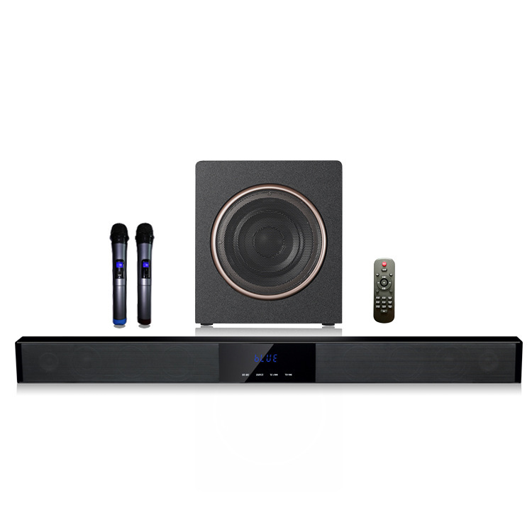 WENGE Home 60W high power TV audio wireless karaoke microphone home theater subwoofer echo wall