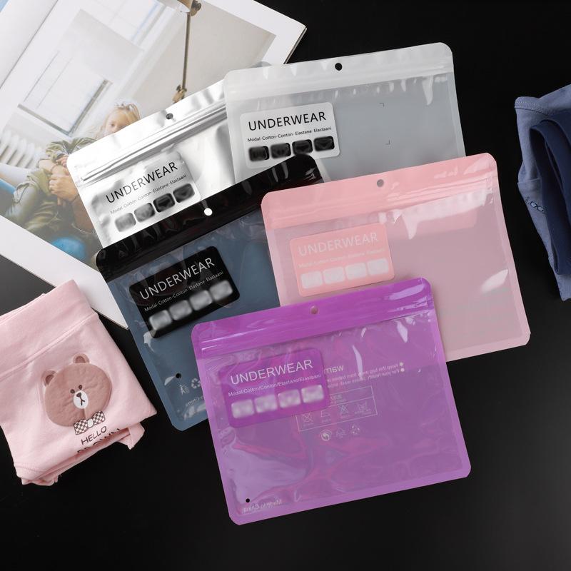 Underwear bags Men's and women's underwear packaging bags Leggings plastic ziplock bags