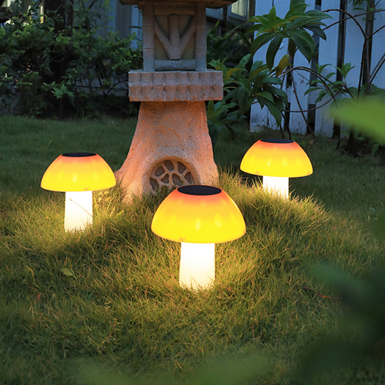 led solar light garden layout staircase light garden decoration lawn light outdoor solar mushroom li