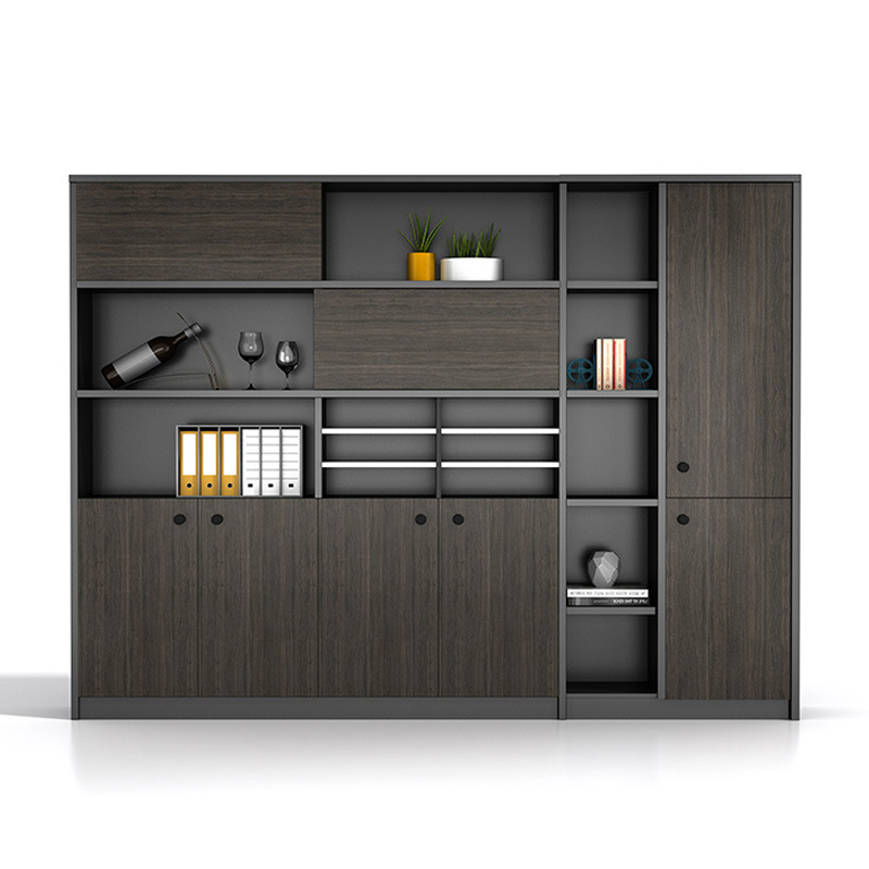 Office filing cabinet simple bookcase wooden information file cabinet boss desk background cabinet c