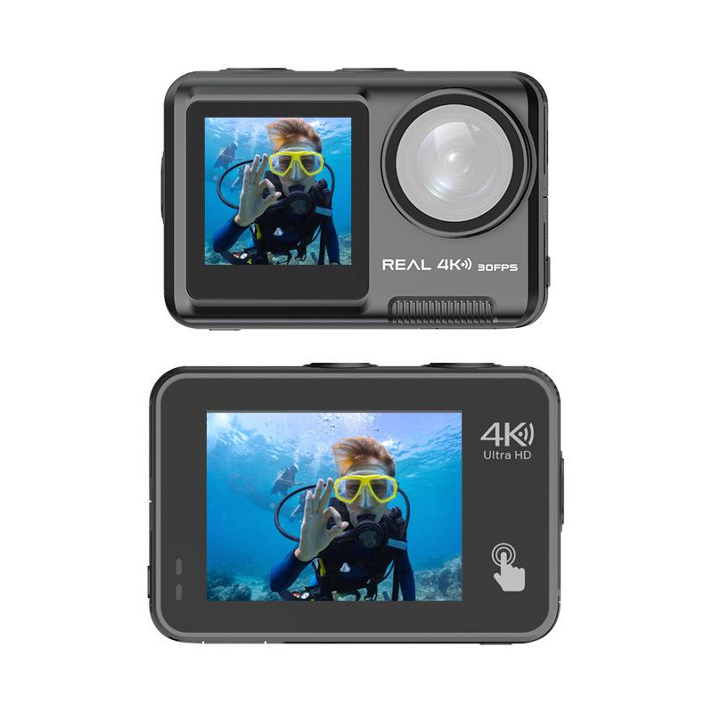 HDKING Sports Camera 4K head mounted camera diving camera bare metal waterproof camera dual screen W