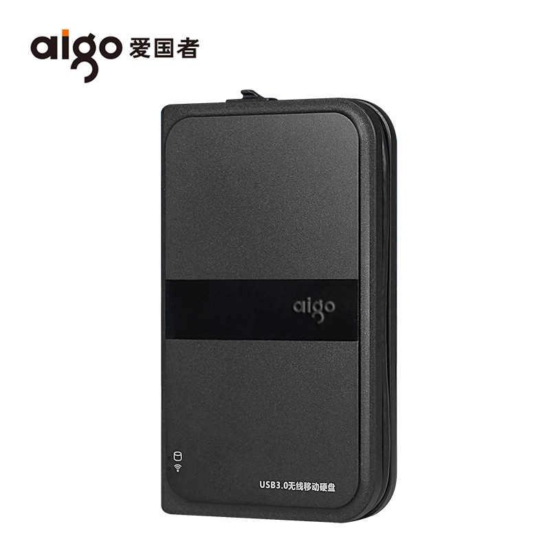 Aigo/Patriot HD816 wireless hard disk wifi mobile hard disk 1T high-speed USB3.0 anti-shock and anti