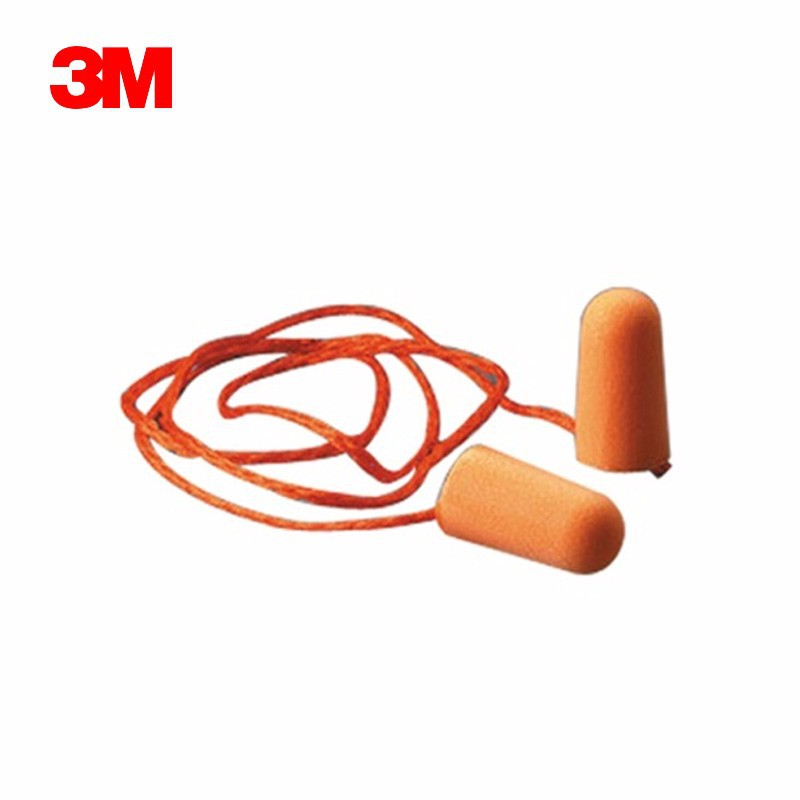3M original 1110 bullet type earplugs with cable noise reduction hearing protection