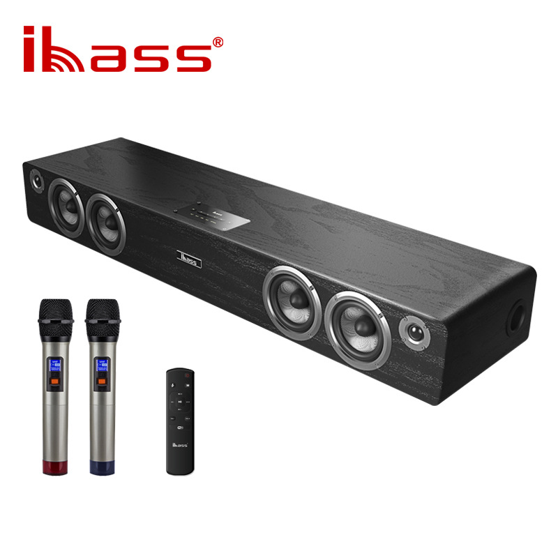 IBASS Damo generation 3 Smart karaoke echo wall Bluetooth fiber coaxial TV audio wooden home theater