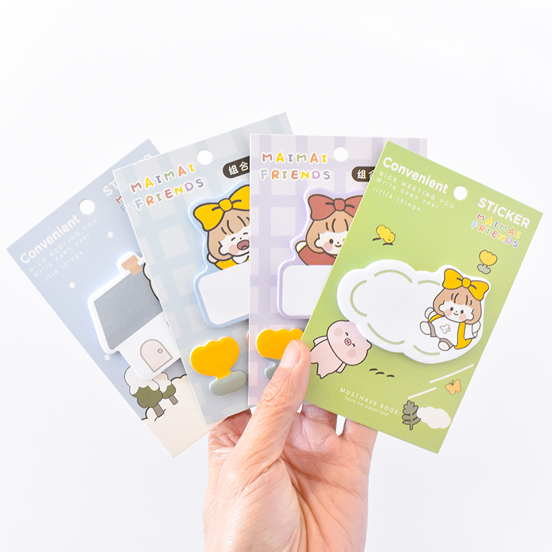 Joytop Cute ins wind cartoon little cute series combination sticky note creative message note N time