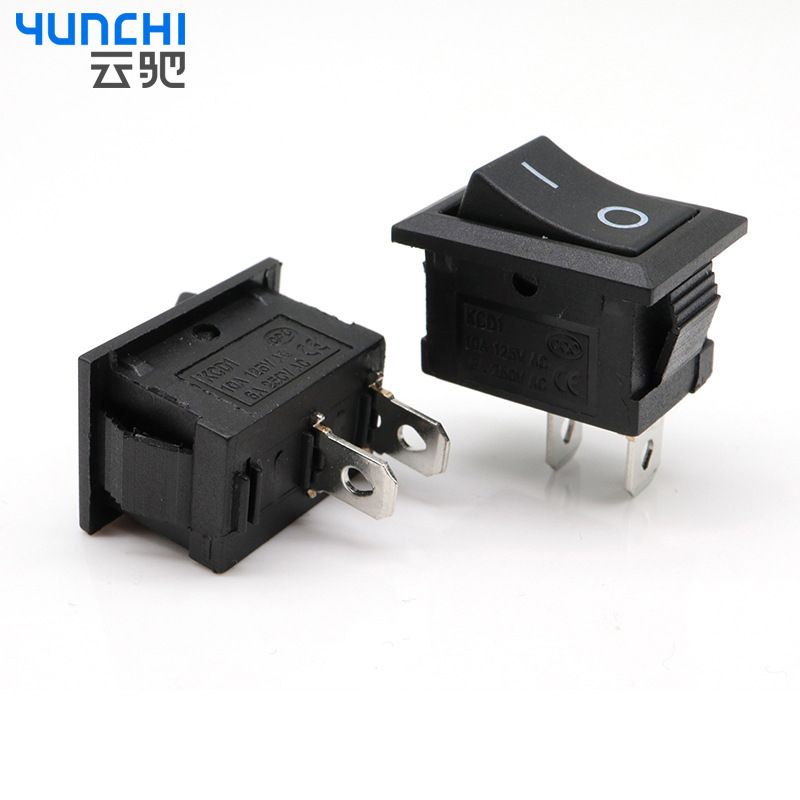 YUNCHI Ship type switch kcd1-101 two pin two gear inclined plane power supply rocker switch IO 15 *