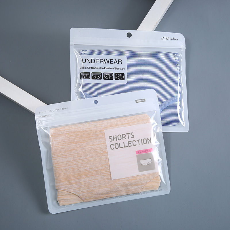 JIABO Unisex composite transparent underwear packaging bag high-grade kraft paper pe zipper bag