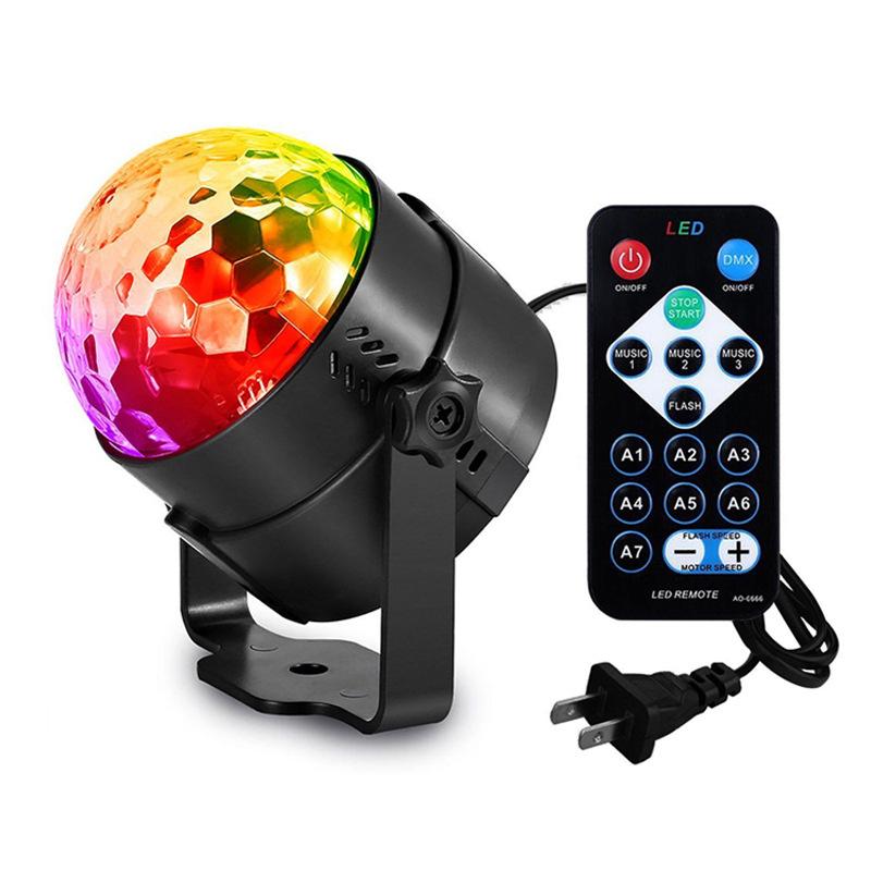 Kaslam Remote control LED small magic ball voice control automatic crystal magic ball colorful color