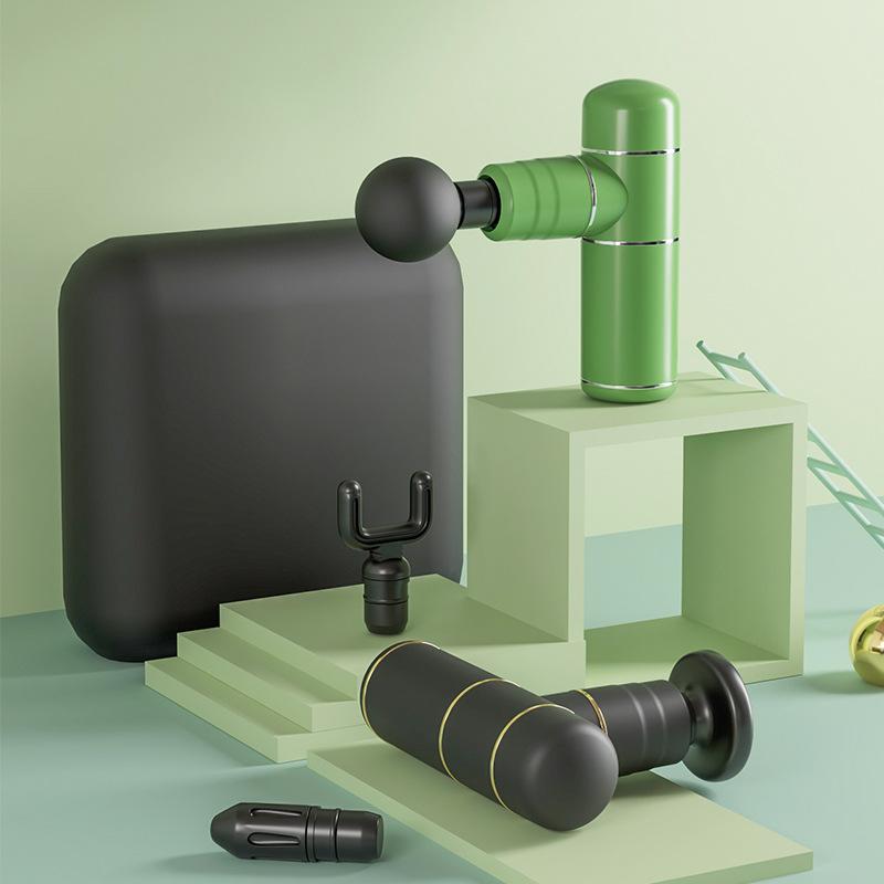 Mini fascia gun muscle relaxant electric home appliance massage gun mini home fitness vibration mass