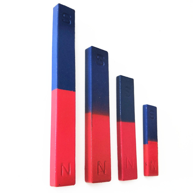 Large Rectangular Magnet Ferrite Bar Teaching Magnet Red and Blue NS Pole for Primary and Middle Sch