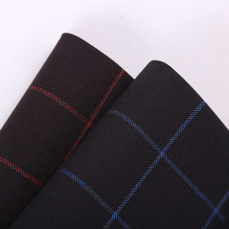 TR plaid suiting fabric, polyester-cotton TR blended workwear fabric supply, polyester-cotton unifor