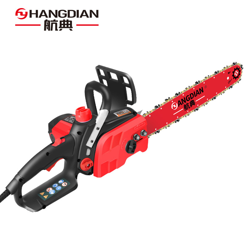 Hangdian electric chain saw household logging electric chain saw high-power multi-function portable