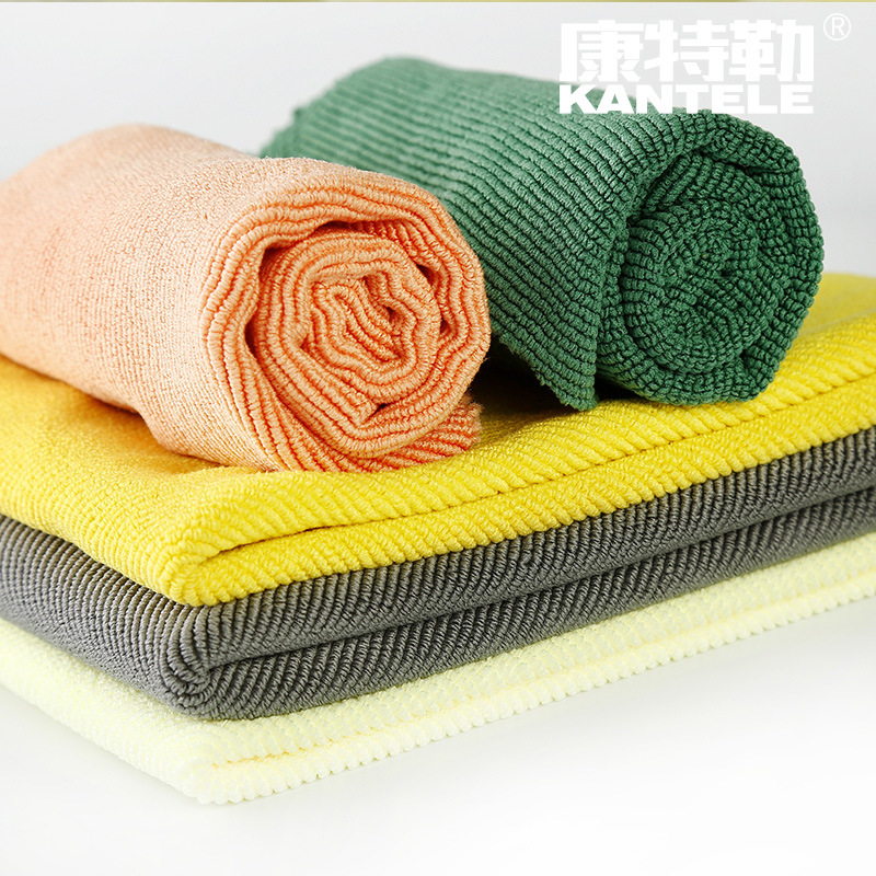 KANGTELE Kantler bright yellow large pearl cloth absorbent towel cloth strong water absorption and e