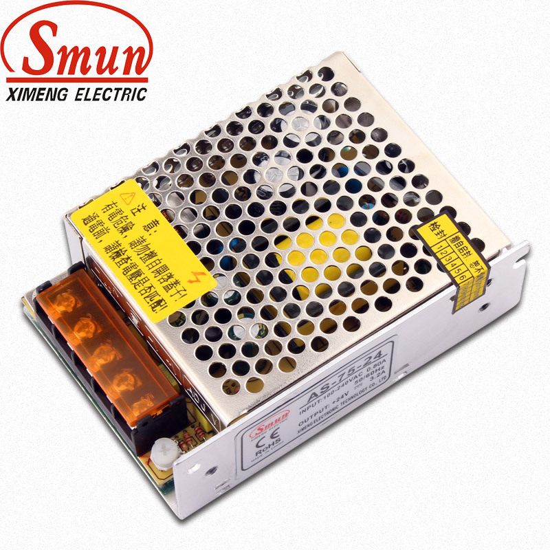 Smun 75W switching power supply 24V3.2A small size switching power supply AS-75-24 led drive power s