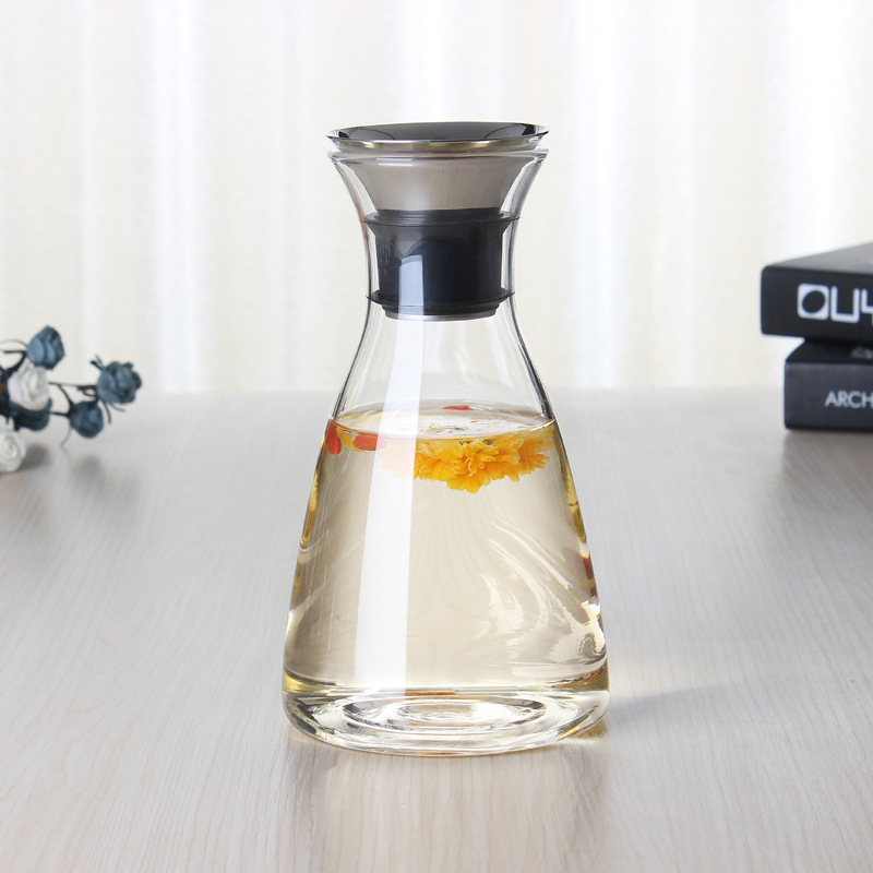 High borosilicate glass cold kettle home heat-resistant open flame direct burning creative glass jug