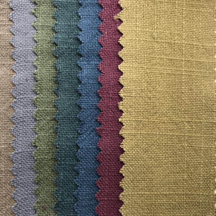 WEIYI 8*8 linen cotton slub hemp fabric ramie water-washed fabric water-washed hemp Hanfu Tang suit