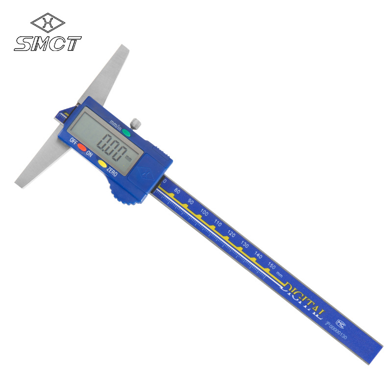 SMCT Electronic digital depth vernier caliper 0-150-200-300mm stainless steel high-precision measuri