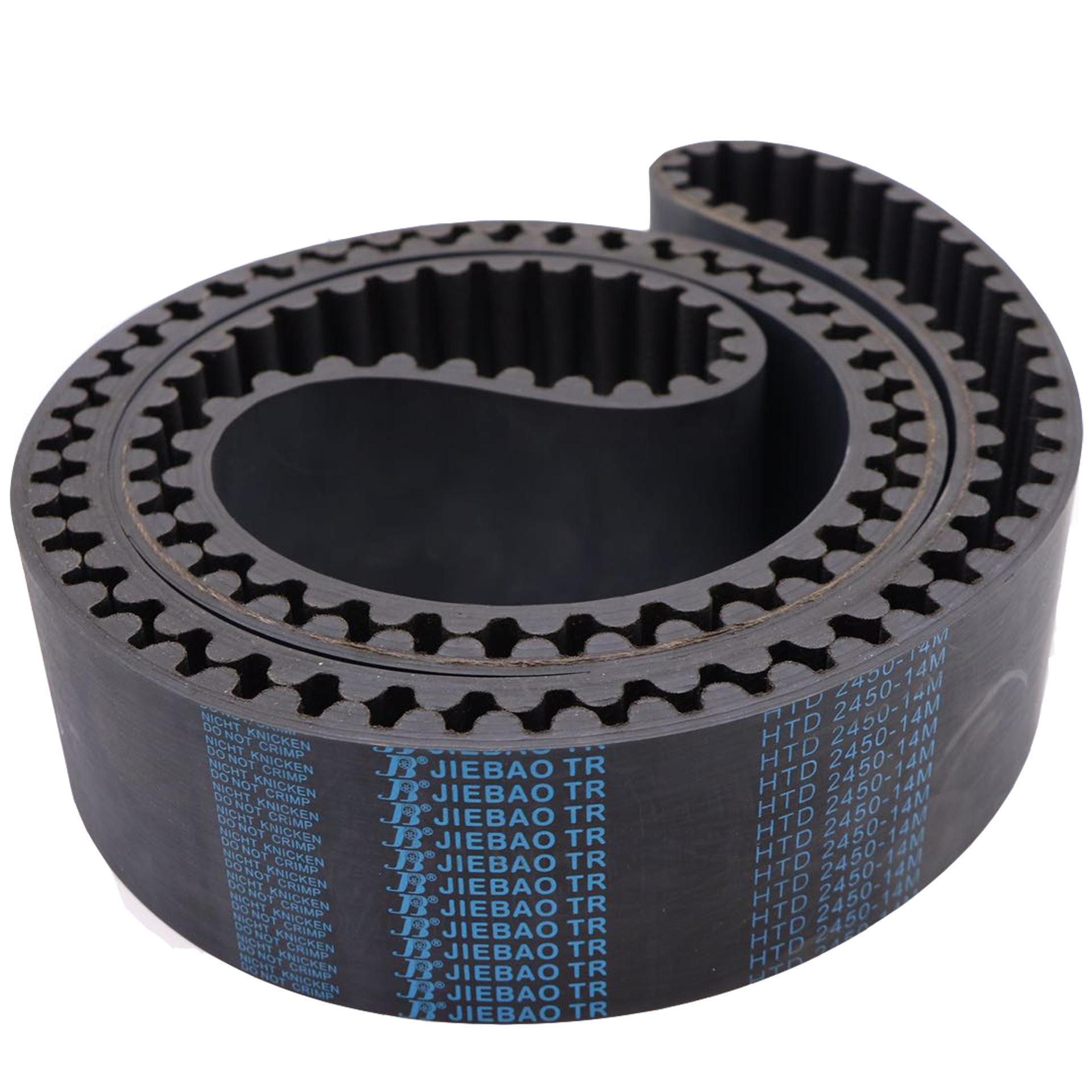 Industrial zigzag open transmission belt 3D printing rubber belt toothed belt polyurethane endless t