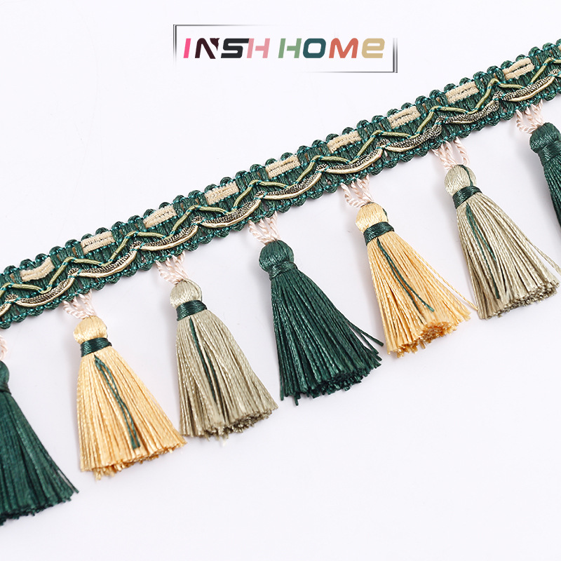 Two-color curtain lace Chinese curtain hanging fringe beads tassels home textile accessories accesso