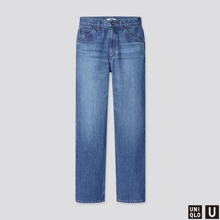 Quần jean nữ ống đứng Uniqlo collab (sản phẩm đã giặt Quần