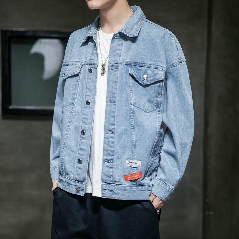 Jacket men's spring and autumn 2021 new Korean version trend ins tooling denim jacket cross-border