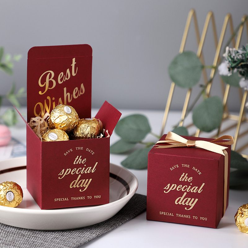 ZHISHANG 2021 New Spot Wedding Candy Box Creative Wedding Wedding Candy Valentine's Day Gift Packag