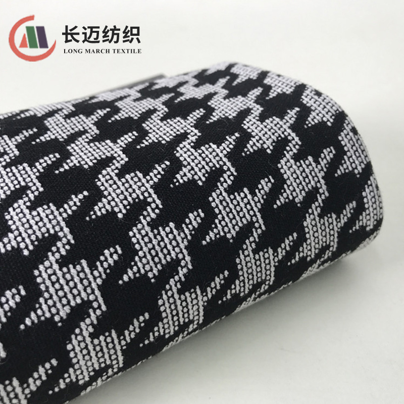 CHANGMAI Autumn and winter classic houndstooth jacquard TR yarn-dyed stretch jacquard jacket fabric