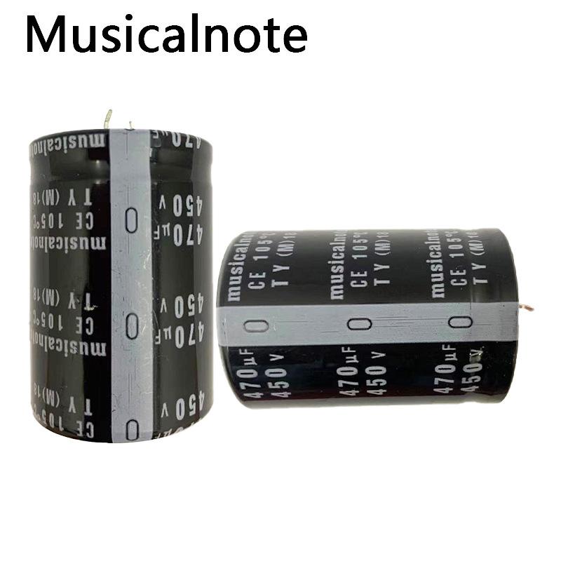Musicalnote Bullhorn high voltage aluminum electrolytic capacitor 450V470uf industrial grade supply