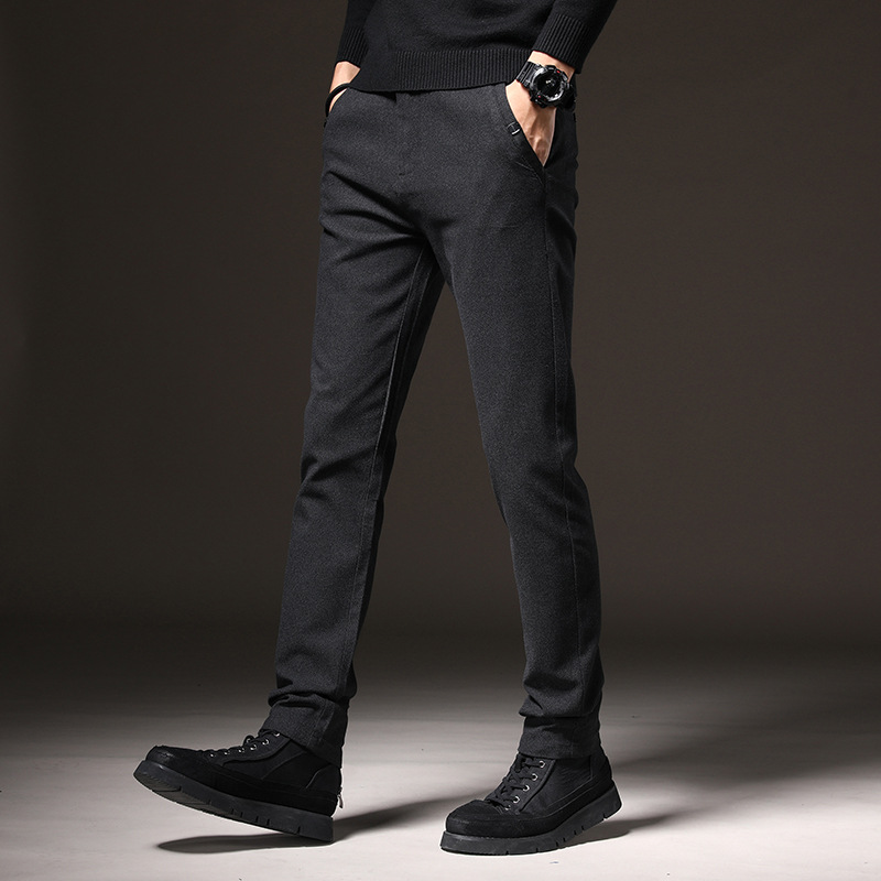 CHAOYI 2021 spring and summer men's casual pants new 95 cotton casual Korean version of the trend o