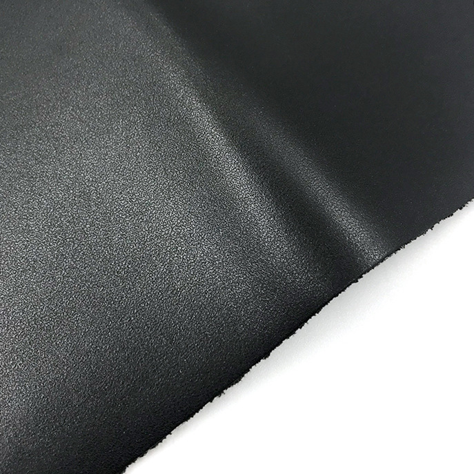 The first layer of cowhide leather, black shaved cow leather, suitable for suitcases, shoes, bags an