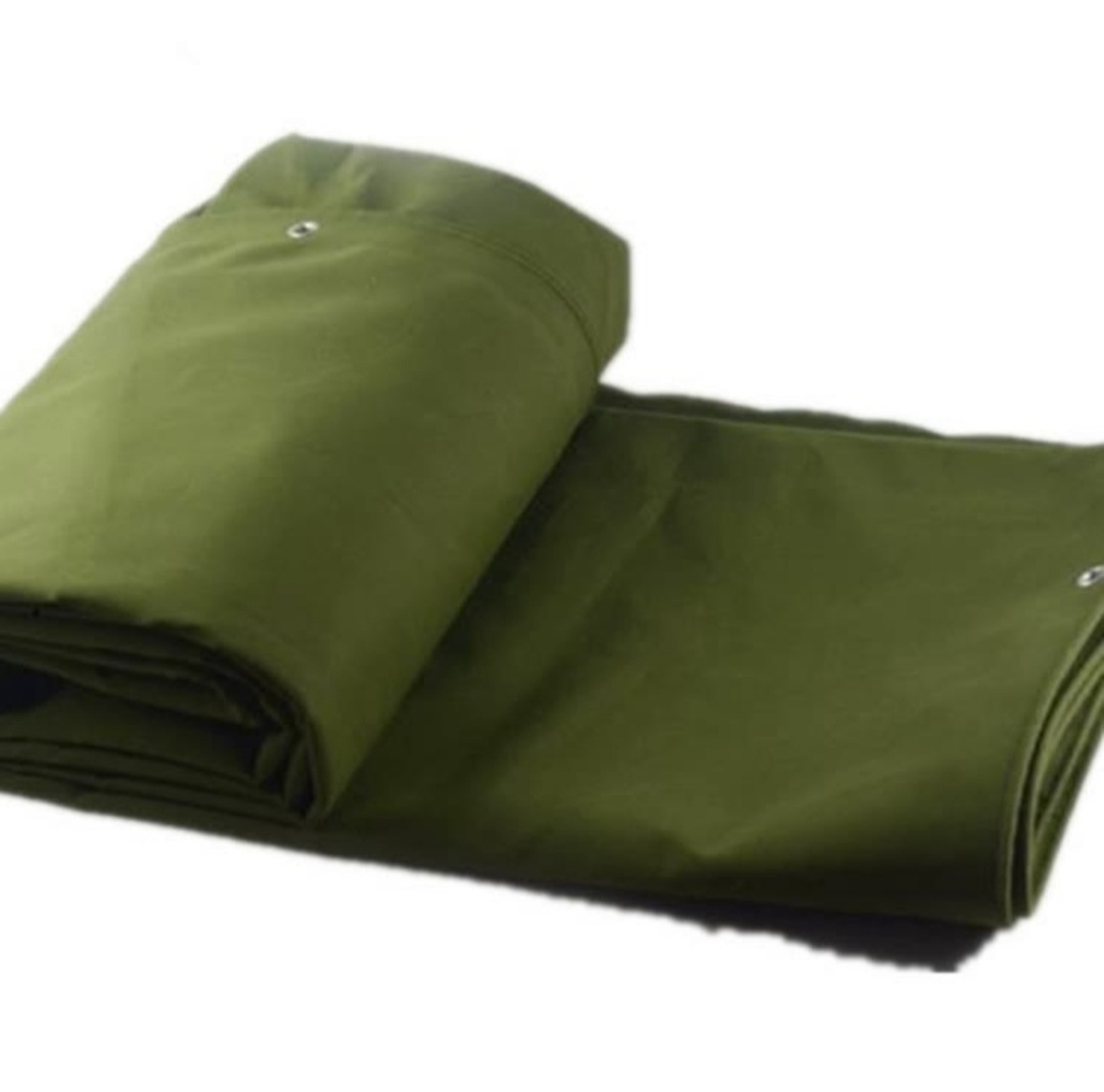 HUARI Army Green Canvas Silicone Tarpaulin 3*3 4*4 Encrypted Polyester Canvas Silicone Tarpaulin