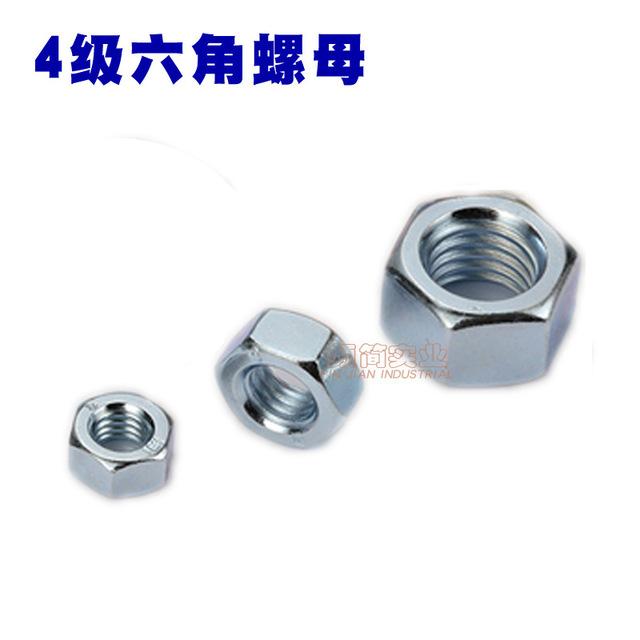 Hexagon nut galvanized grade 4.8 hexagon screw cap carbon steel GB52 hexagonal mother M5M6M8M10M12M1