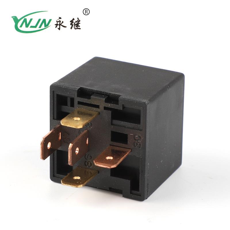 YONGJI Automotive relay JD1914 80A/40A 12V/24V 4 feet 5 feet copper small waterproof relay