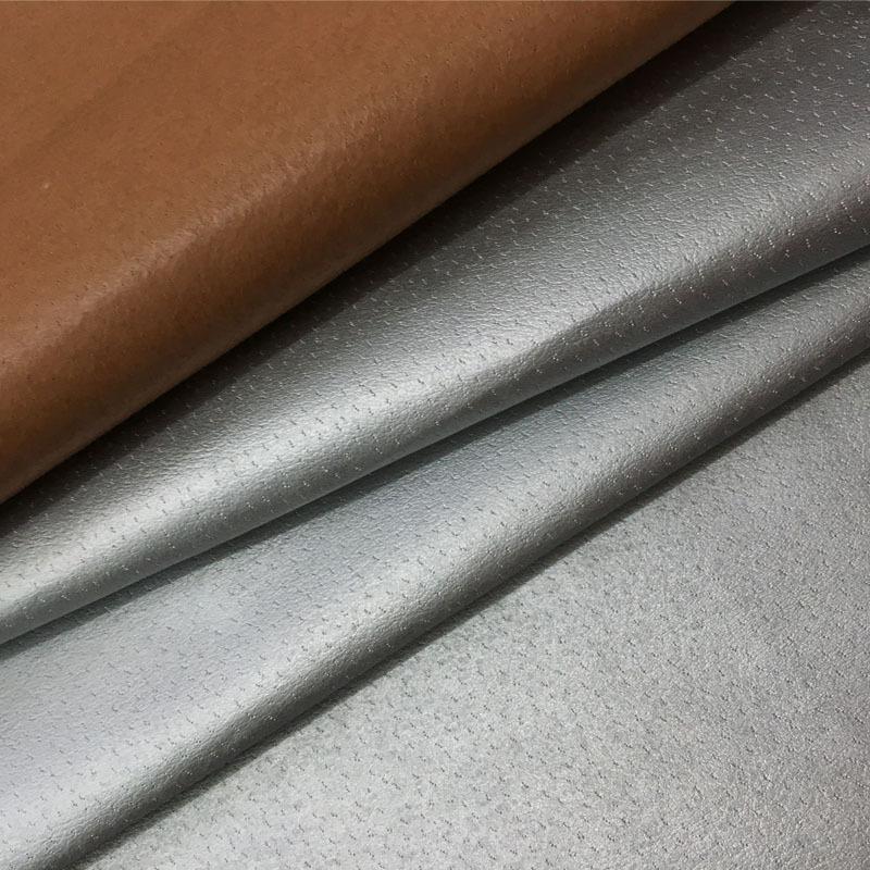 Perforated pigskin bottom pu skin breathable leather imitation leather shoes lining luggage clothing
