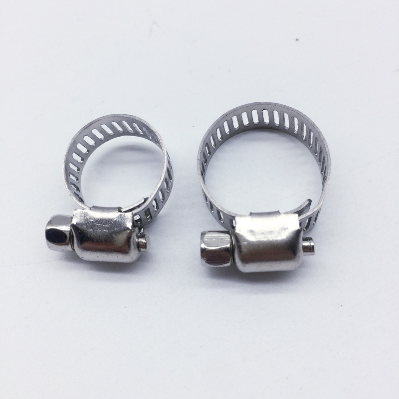 Air conditioning pipe clamp cross gas pipe clamp 9-16 stainless steel various garden pipe clamp clam