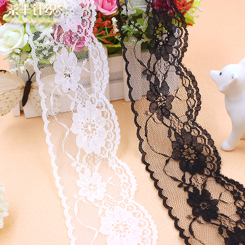 Non-stretch lace, lace for clothing curtain accessories, nylon lace, 6.5 cm wide