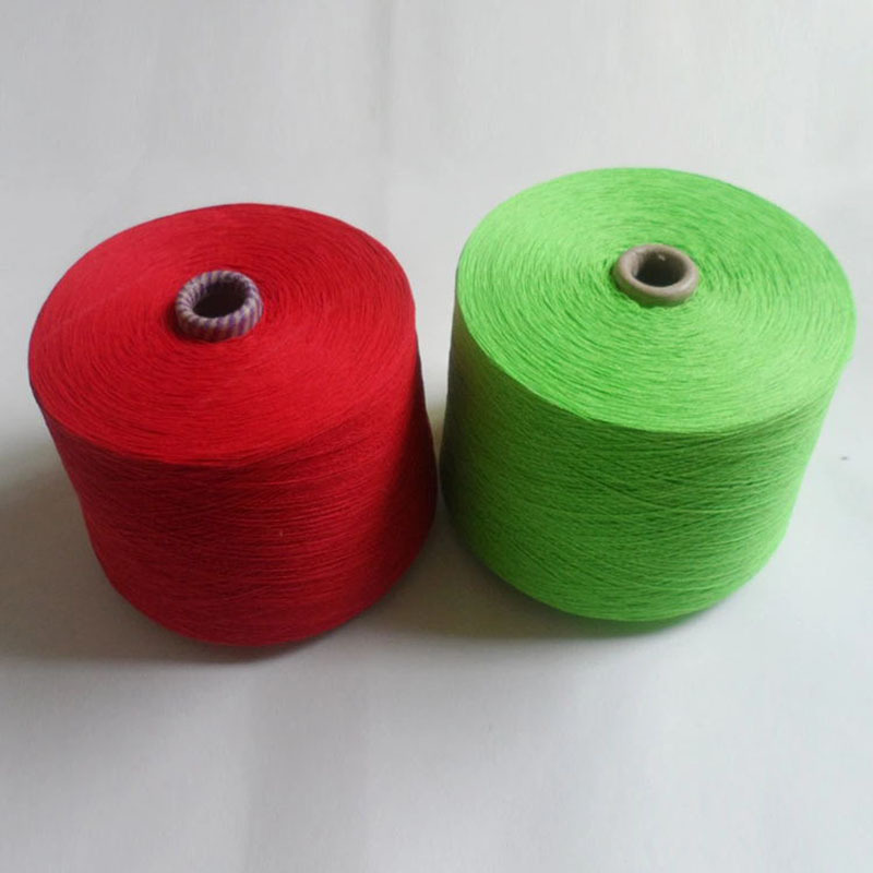 10 counts 20 counts red regenerated cotton yarns of various colors polyester-cotton plied yarns