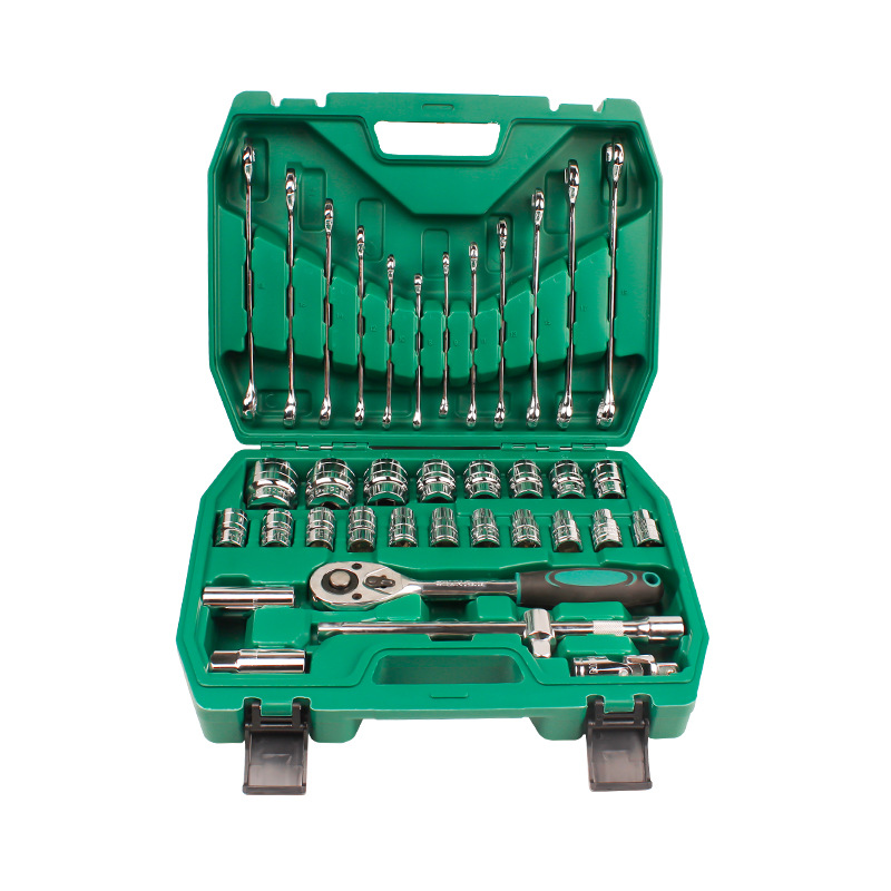 OUBANG Obon Tool Socket Set 32 Piece Set Metric Mirror 37 Piece Socket Auto Repair Wrench Set