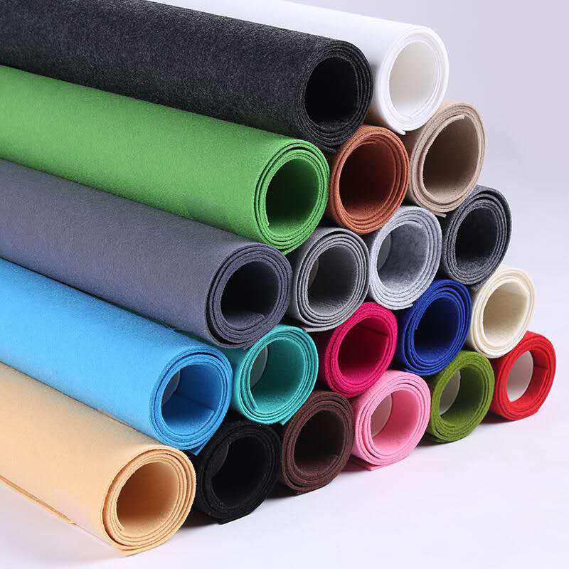 DINGCHAO Colored Felt Fabric Polyester Felt Non-woven Fabric Gray Polyester Felt Fabric Size