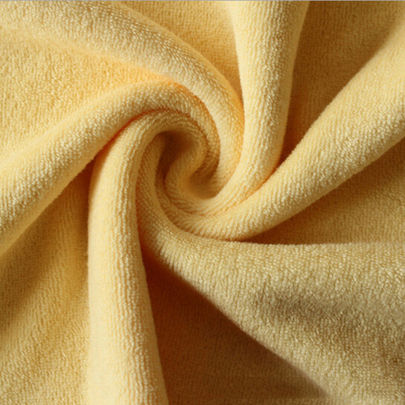 Single-sided terry cloth absorbent ribbed stretch bamboo fiber knitted terry cloth jacket fabric