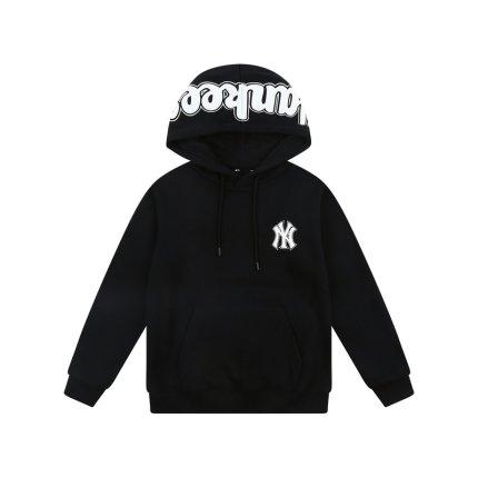 MLB Sweater (Áo nỉ chui đầu) chính thức cho nam và nữ áo len NY có mũ trùm đầu dài tay rộng rãi cộng