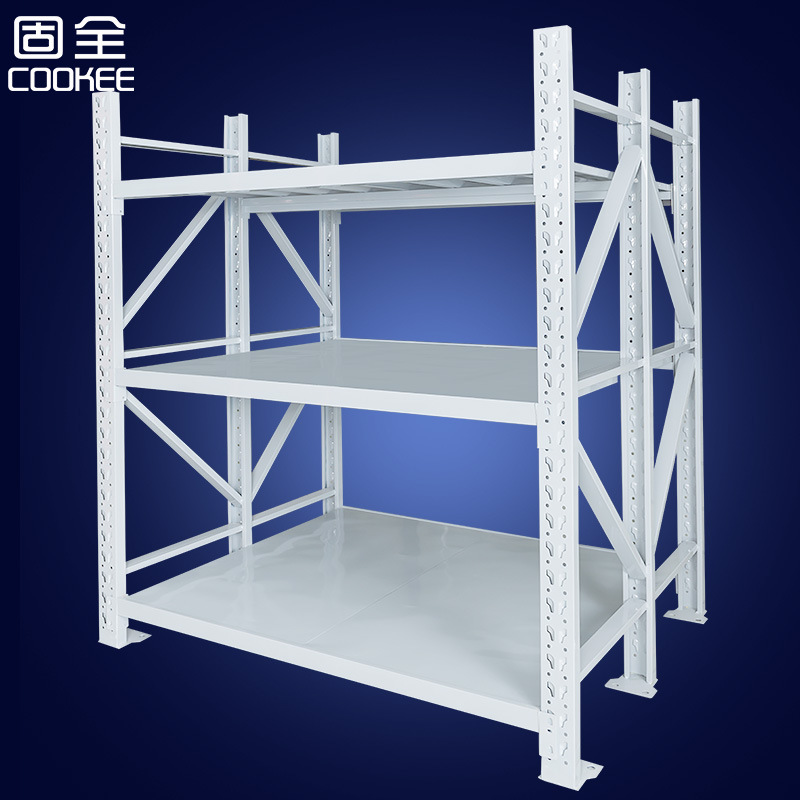 Solid heavy-duty warehouse fabric shelf three-column warehouse storage shelf cloth fabric display ra