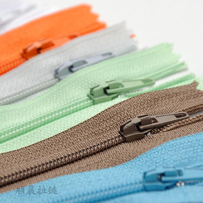 SHUNCHEN No. 3 nylon zipper closed tail zipper home textile pillow strip zipper clothing placket col