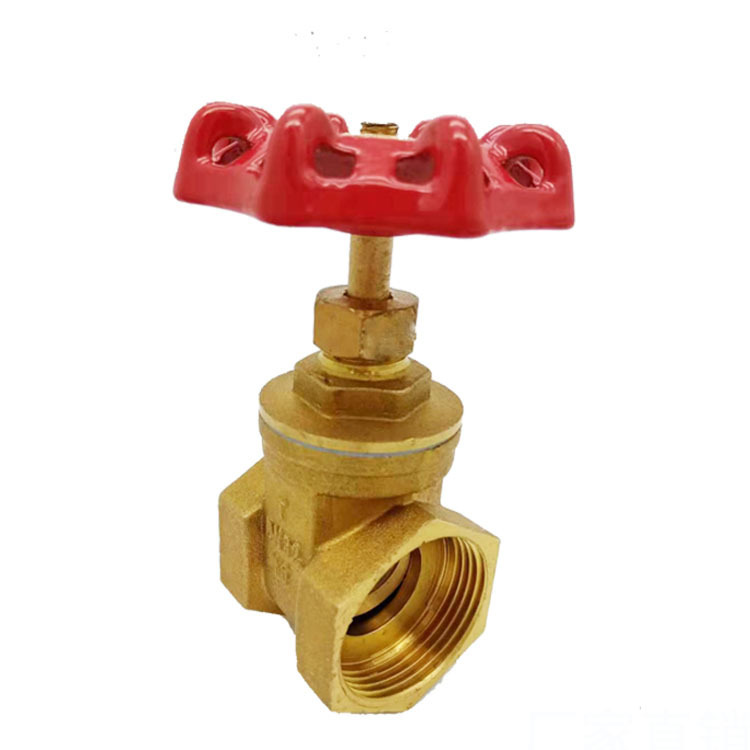 Thickened brass gate valve 4 points 6 points 1 inch threaded tap water switch threaded water pipe va