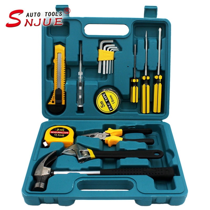 SNJUE 16-piece hardware tool set, gift combination tool box, car repair tool, hammer wrench, type B