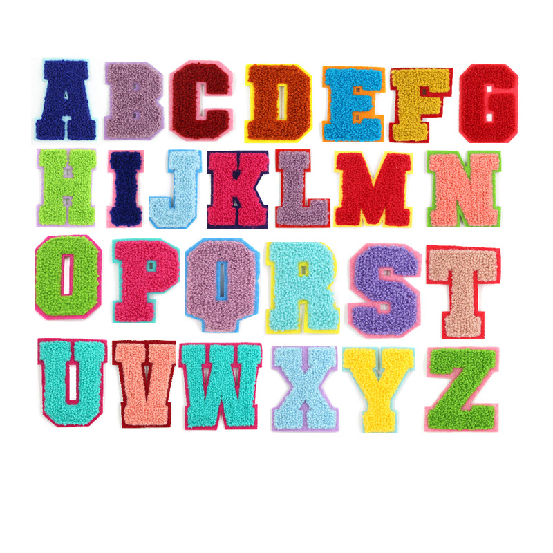 English alphabet cloth stickers color towel embroidered patch clothing accessories bags jewelry trad