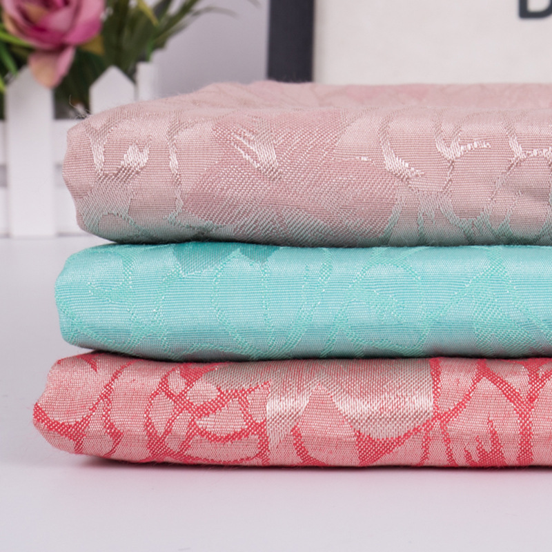 FUTAO Rayon fine five-star flower jacquard fabric Polyester viscose children's fashion yarn-dyed ja